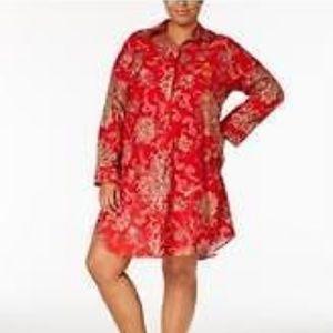 Lauren Ralph Lauren Plus Size 3X Sleepshirt NEW